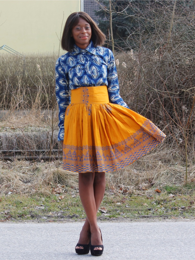 Relativ Model pour ensemble jupe en tissus pagne - l'atelier couture JX21