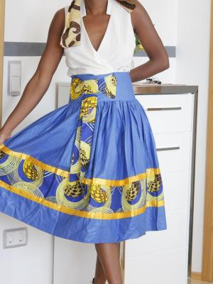 Nelle stern made by africans jupe bleue 3